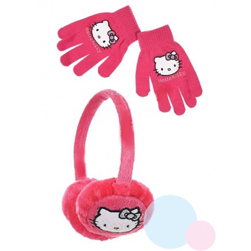 Klapky na uši a rukavice Hello Kitty