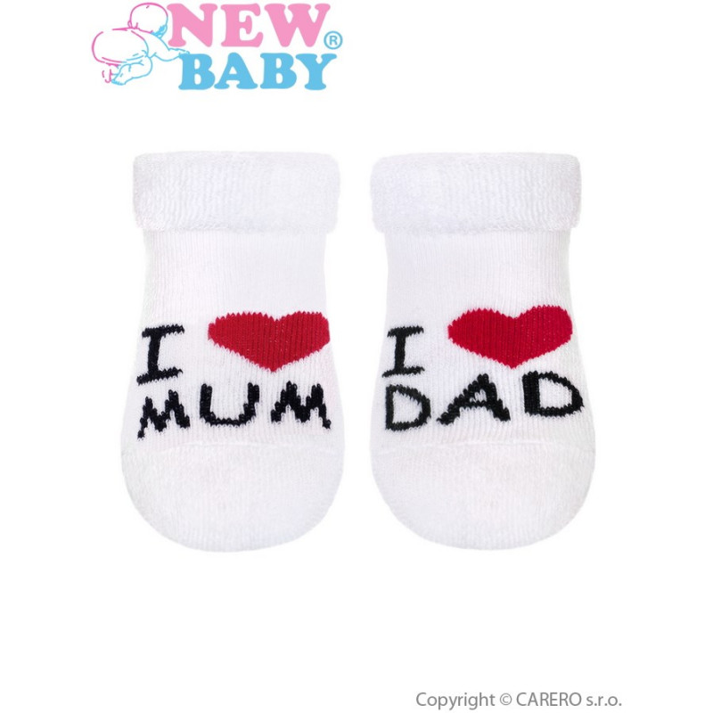 Ponožky I Love Mum and Dad froté