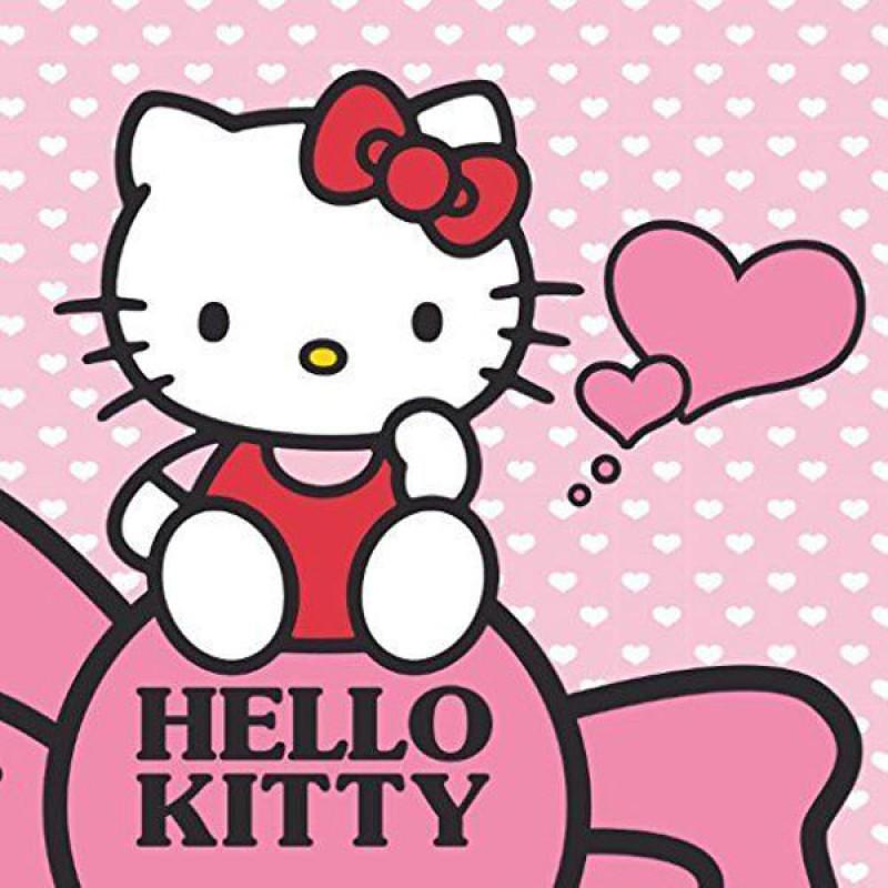 Magický ručníček Hello Kitty srdíčka
