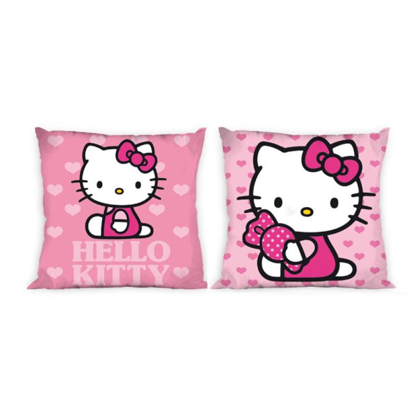 Povlak na polštářek Hello Kitty srdíčka