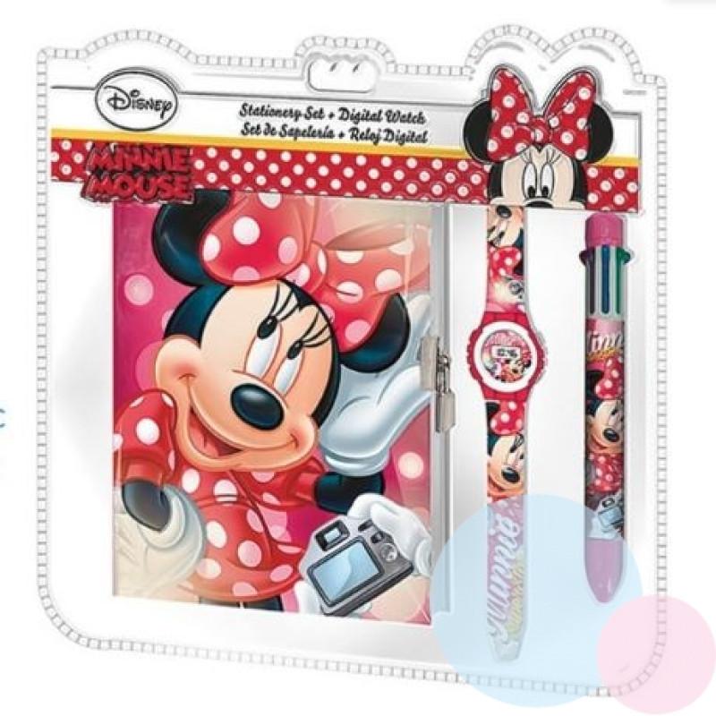 Zápisník, hodinky a propiska Minnie