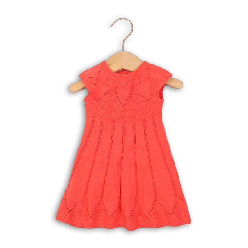 Šaty dívčí úpletové-červená