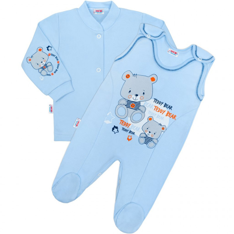 Kabátek a dupačky New Baby teddy