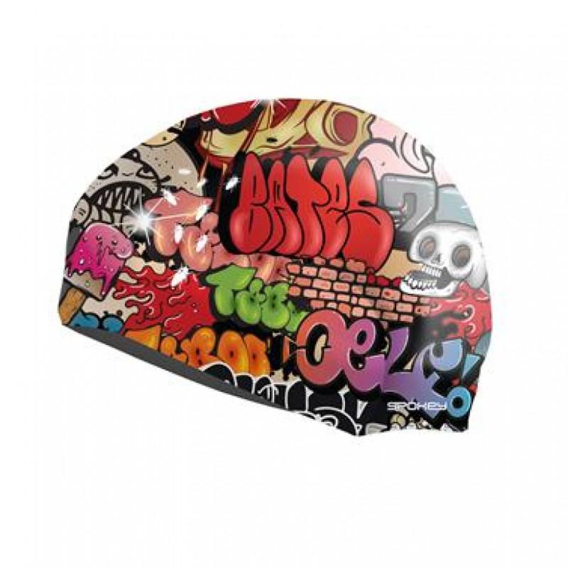 Plavecká čepice grafitti
