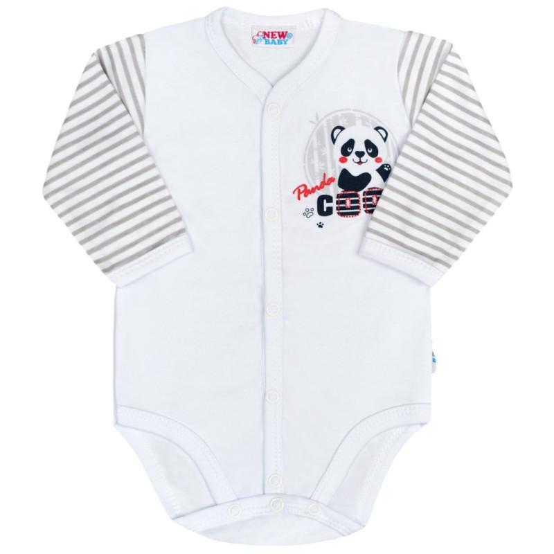 Body celorozepínacís dlouhým rukávem Panda