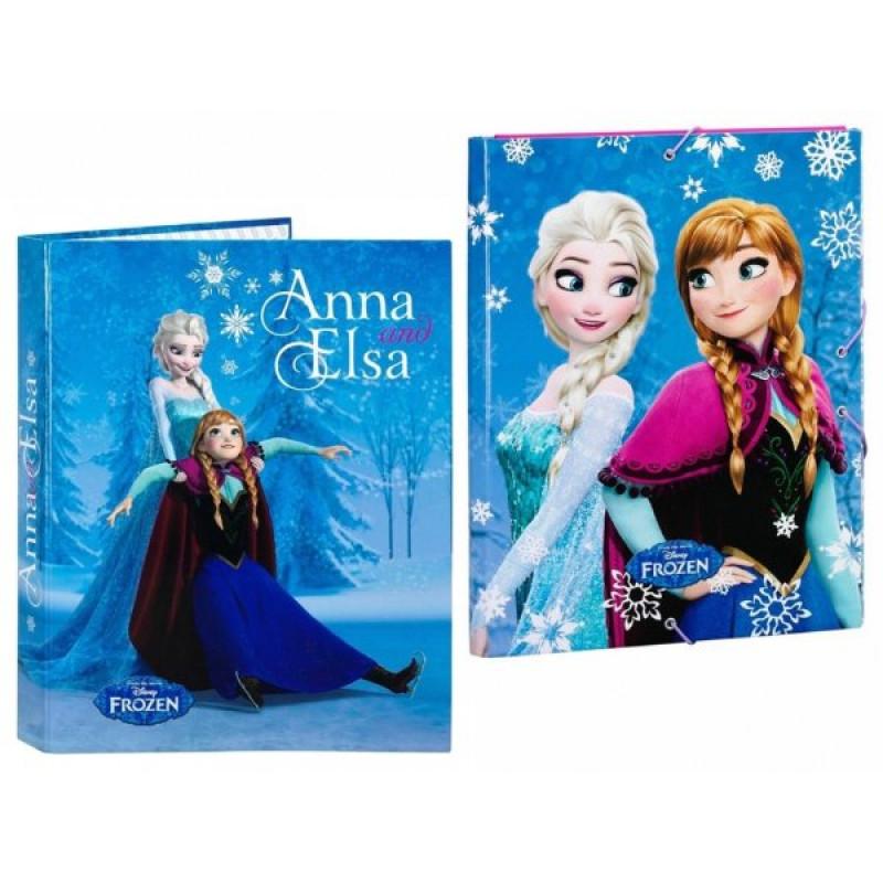 Box na sešity a pořadač Frozen