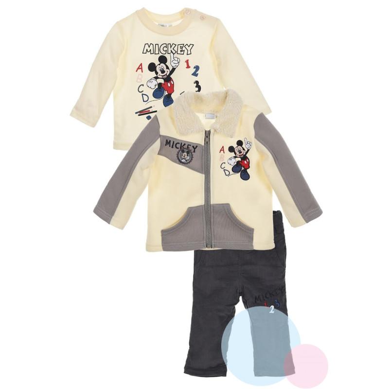 Bunda, triko a kalhoty Mickey