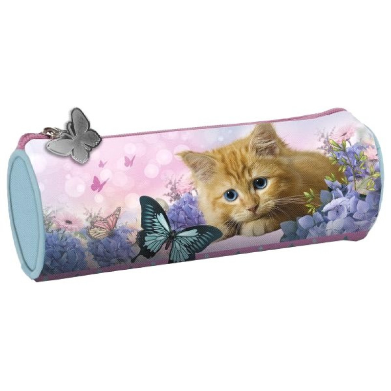 Penál kočka kulatý