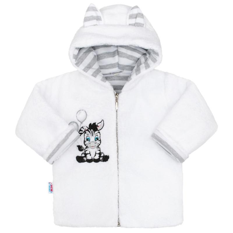 Zimní kabátek s kapucí Zebra