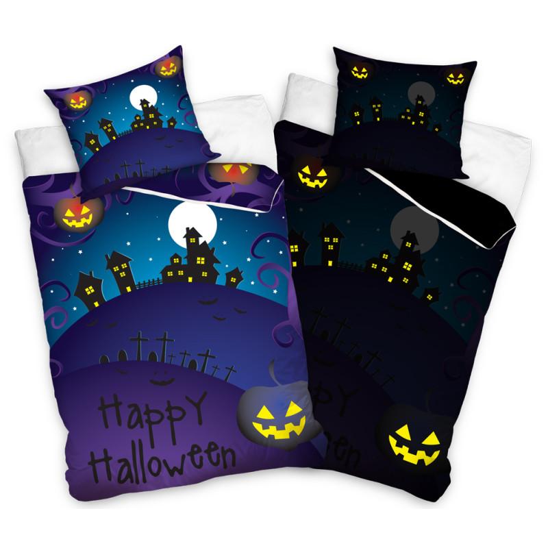 Povlečení Happy Halloween svítící