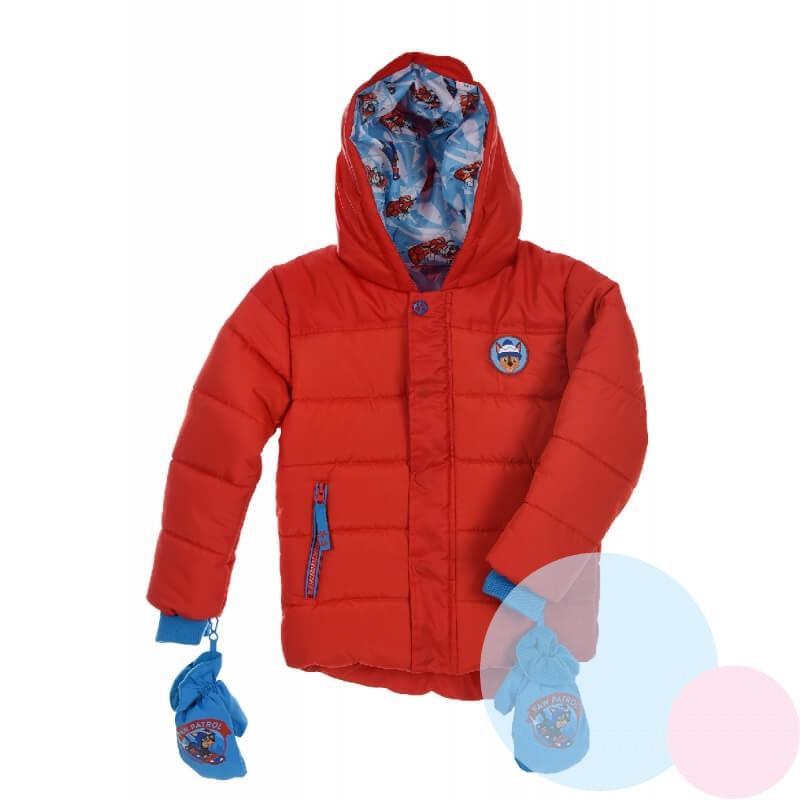 Zimní bunda a rukavice Tlapková Patrola