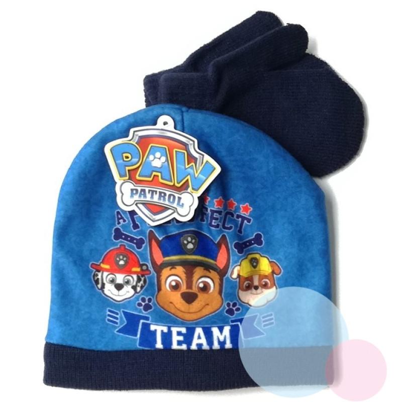 Čepice a rukavice TLAPKOVÁ PATROLA baby