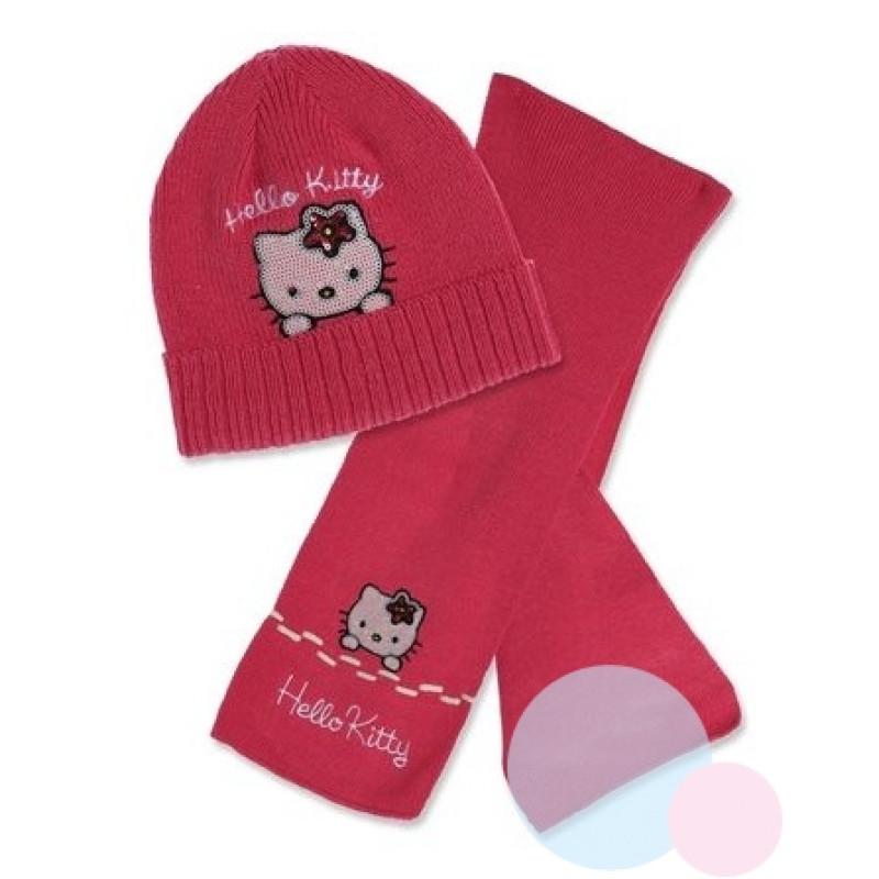 Čepice a šála Hello Kitty