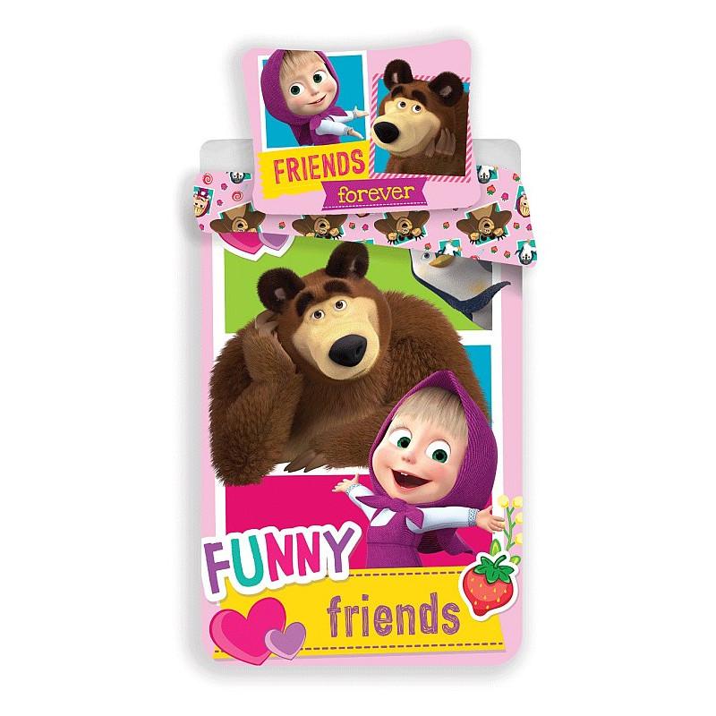 Povlečení Máša a medvěd Friends