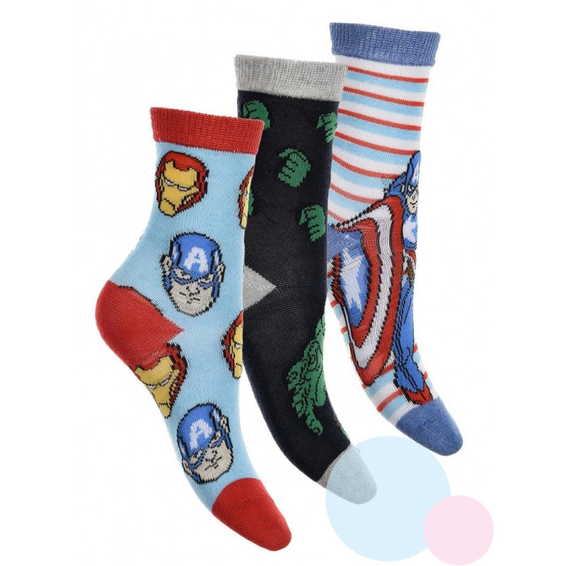 Ponožky Avengers 3ks