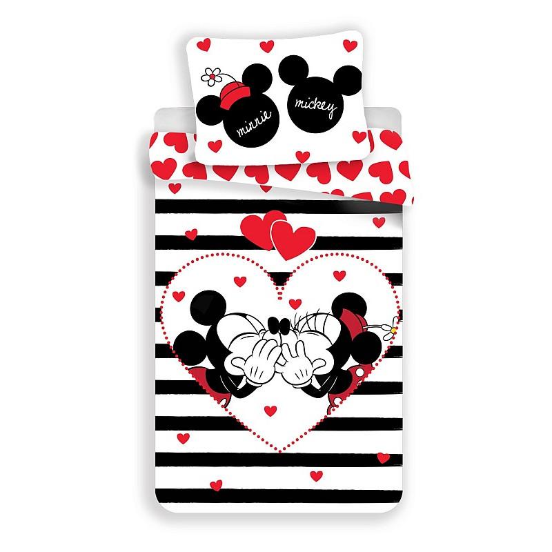 Povlečení Mickey a Minnie stripes
