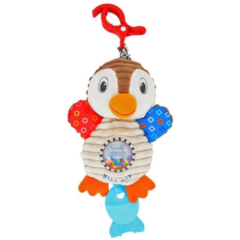 Plyšová hračka s vibrací Baby Mix tučňák