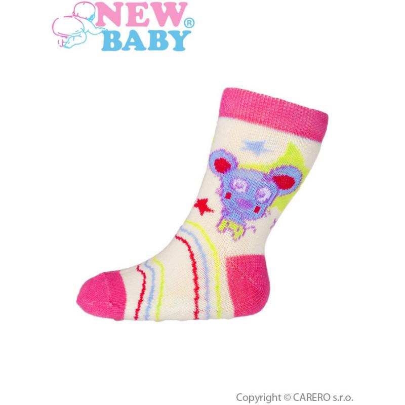 Ponožky New Baby s ABS s myškou
