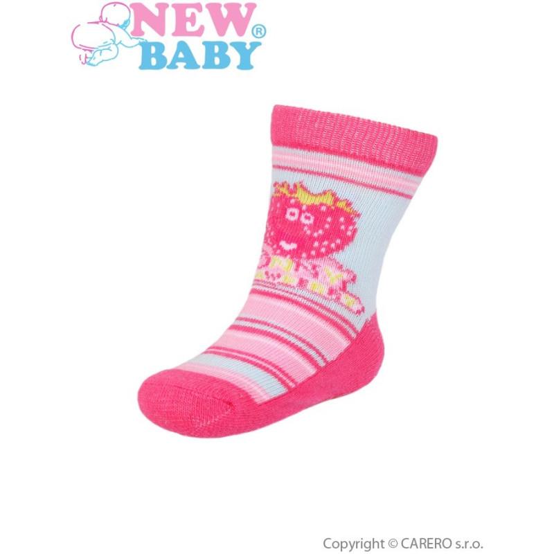 Ponožky New Baby s ABS strawberry