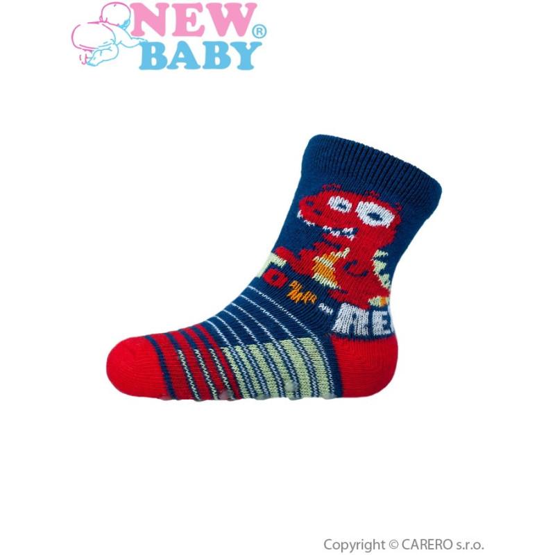 Ponožky New Baby s ABS toy rex
