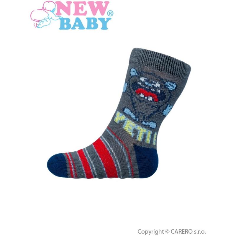 Ponožky New Baby s ABS yeti
