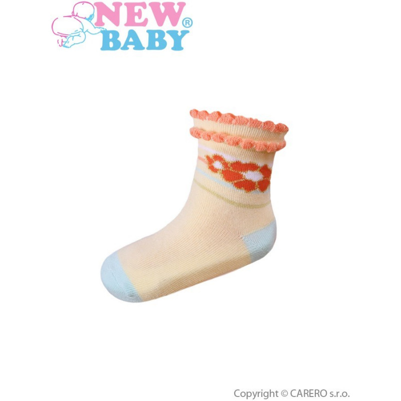 Ponožky New Baby s kytičkou