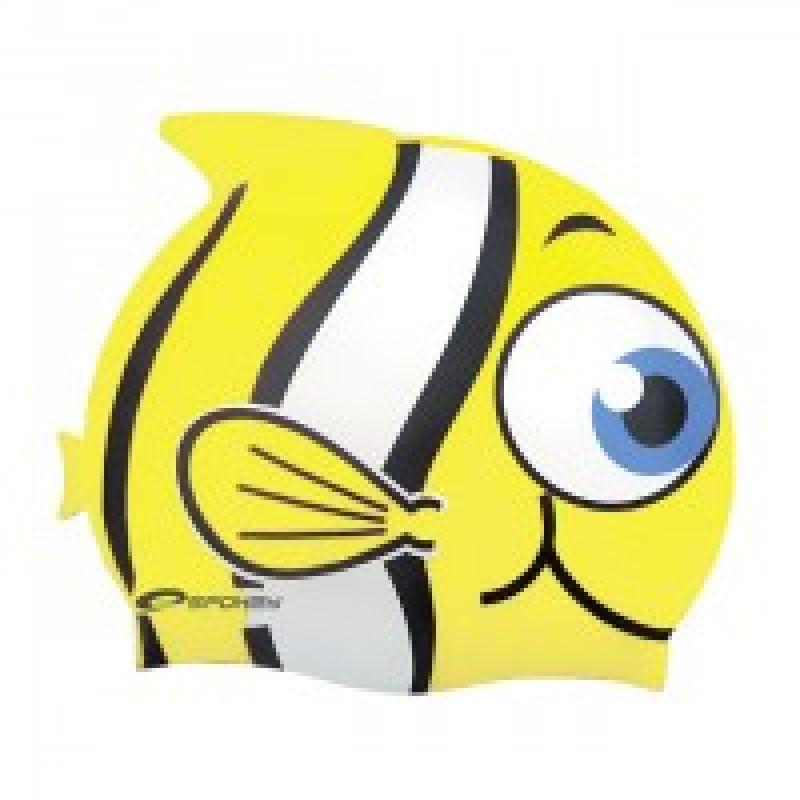 Koupací čepice Ryba - žlutá