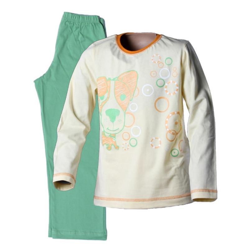 Pyžamo dívčí s pejskem