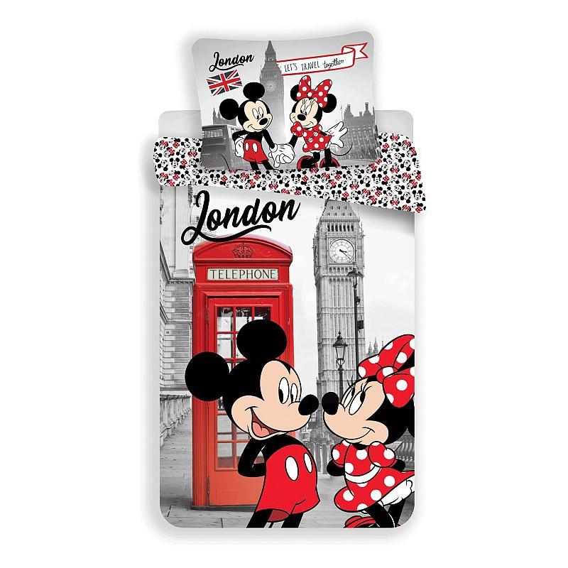 Povlečení Mickey a Minnie Londýn Telephone