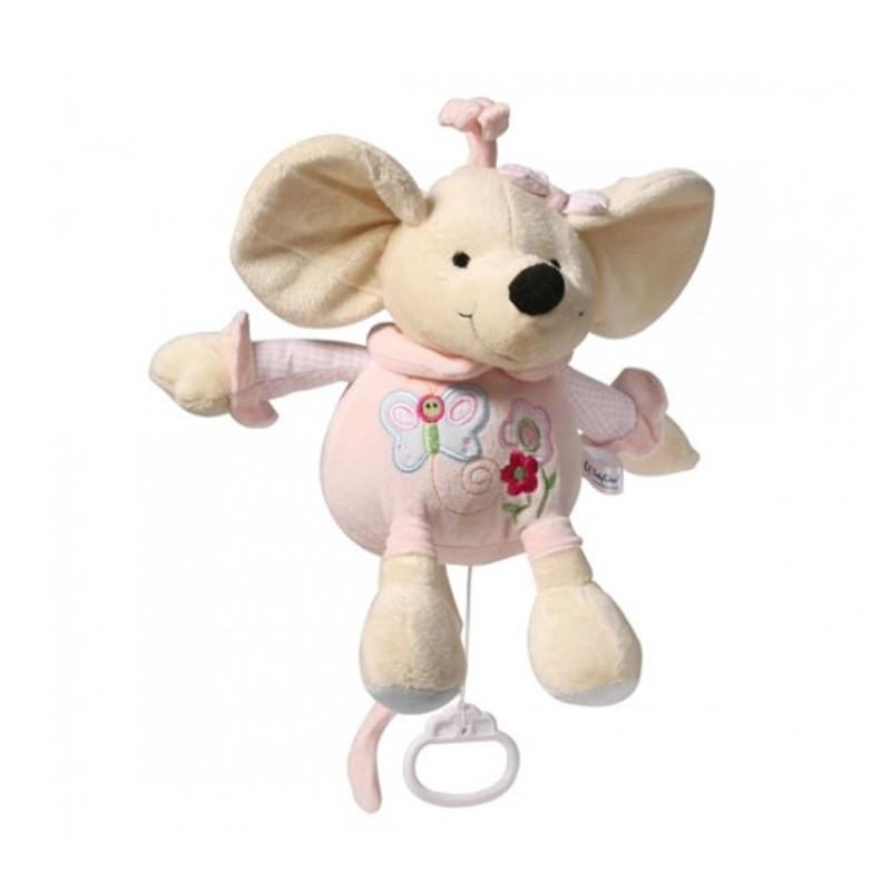 Plyšová hračka s hracím strojkem Myška