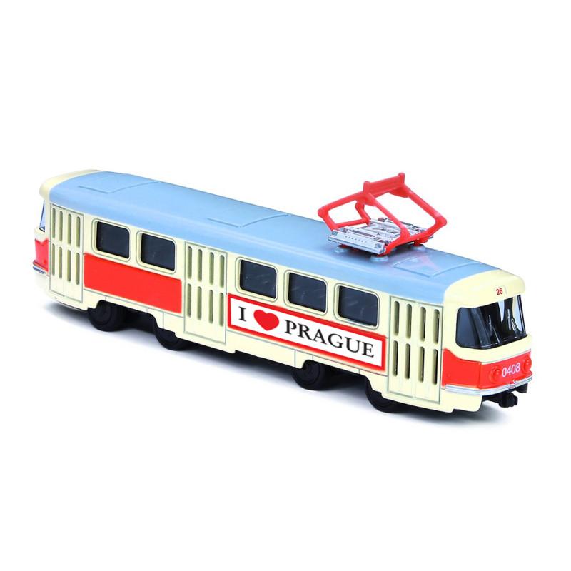 Kovová tramvaj 16 cm na zpětný chod