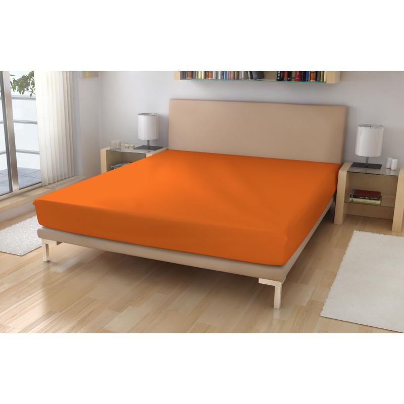 Jersey prostěradlo EXKLUSIVE Sytě oranžová