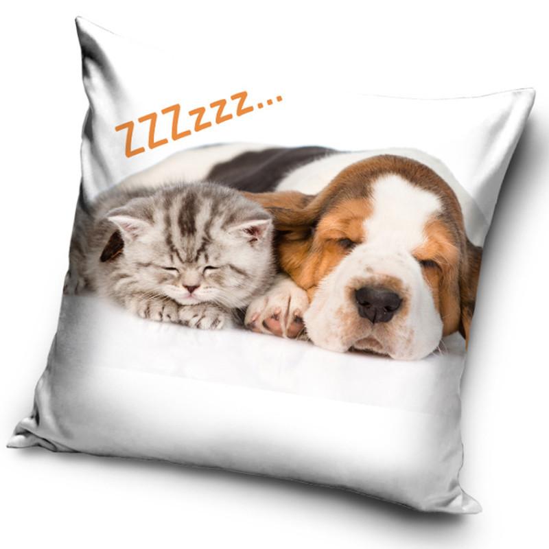 Povlak na polštářek Pejsek a Kočička