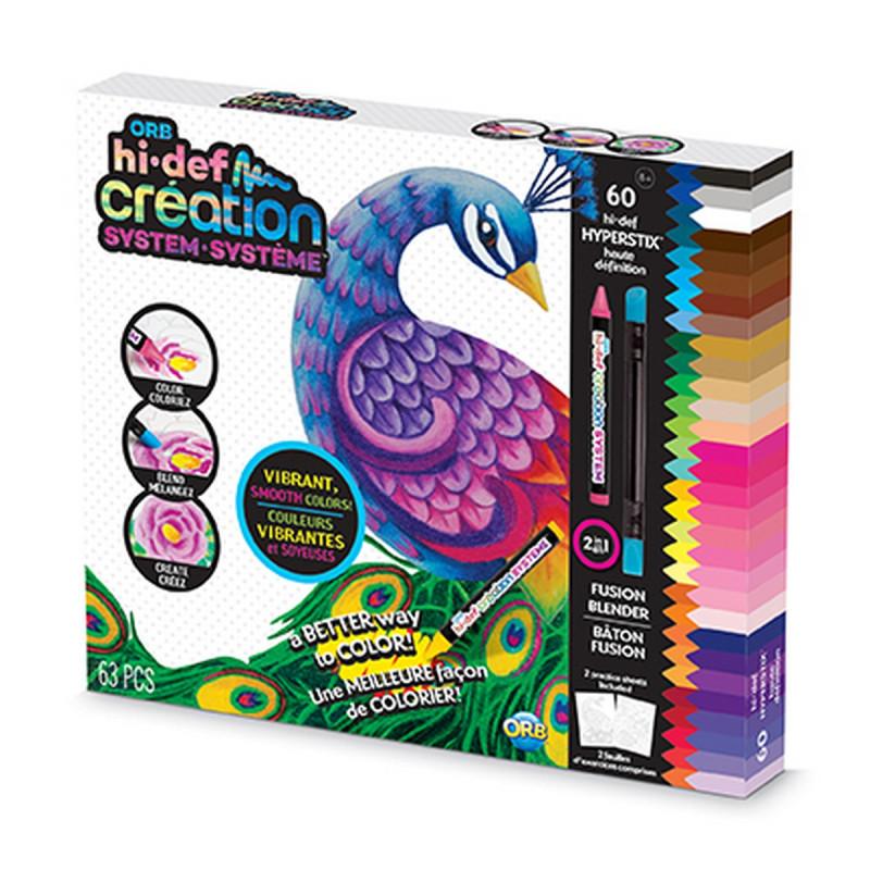 Kreativních sada Hi-Def voskových pastelek s omalovánkami
