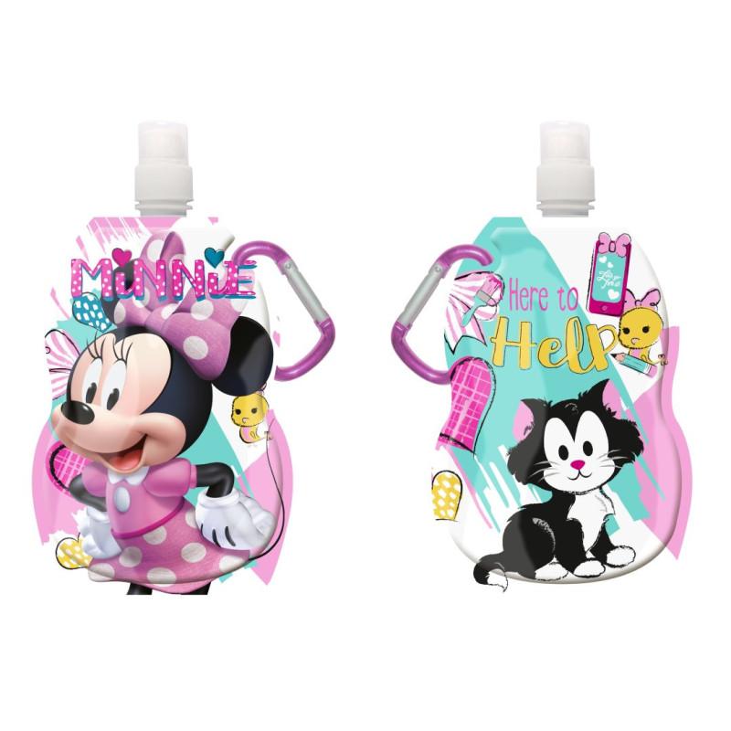 Láhev na pití s karabinou Minnie hearts