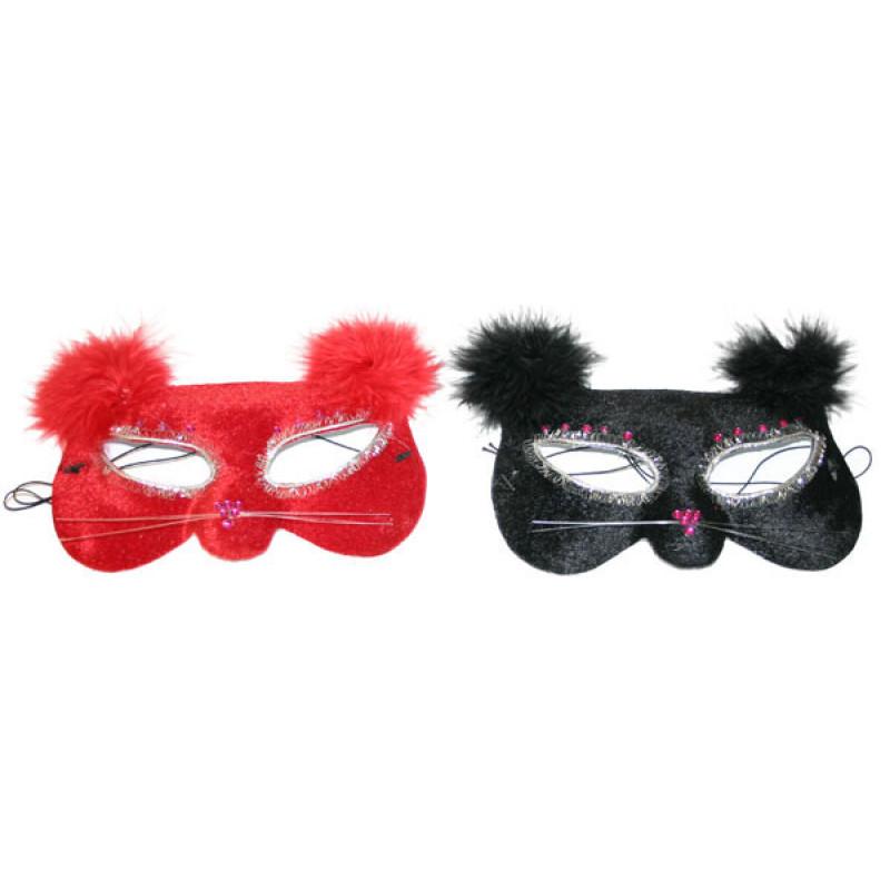 Maska oční kočka s peřím, 2 druhy