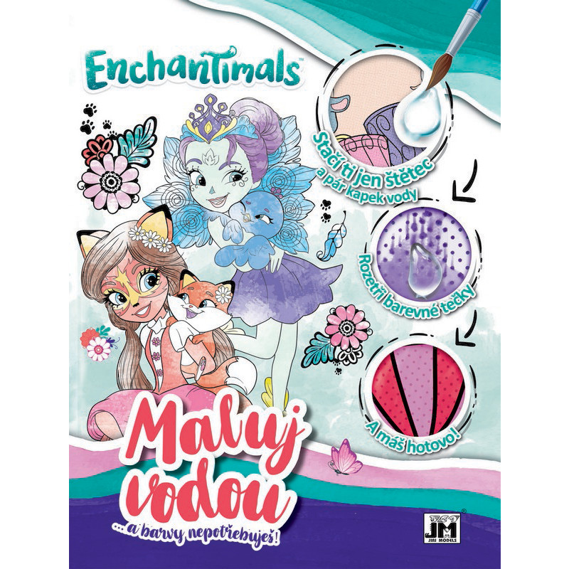 Omalovánka maluj vodou A4 Enchantimals