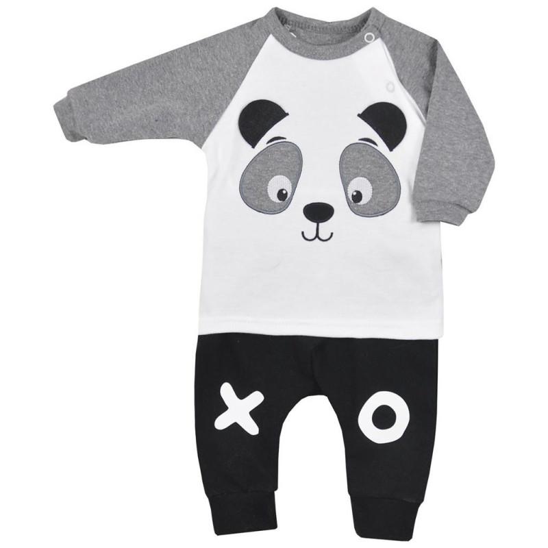 Tepláčky a tričko Panda