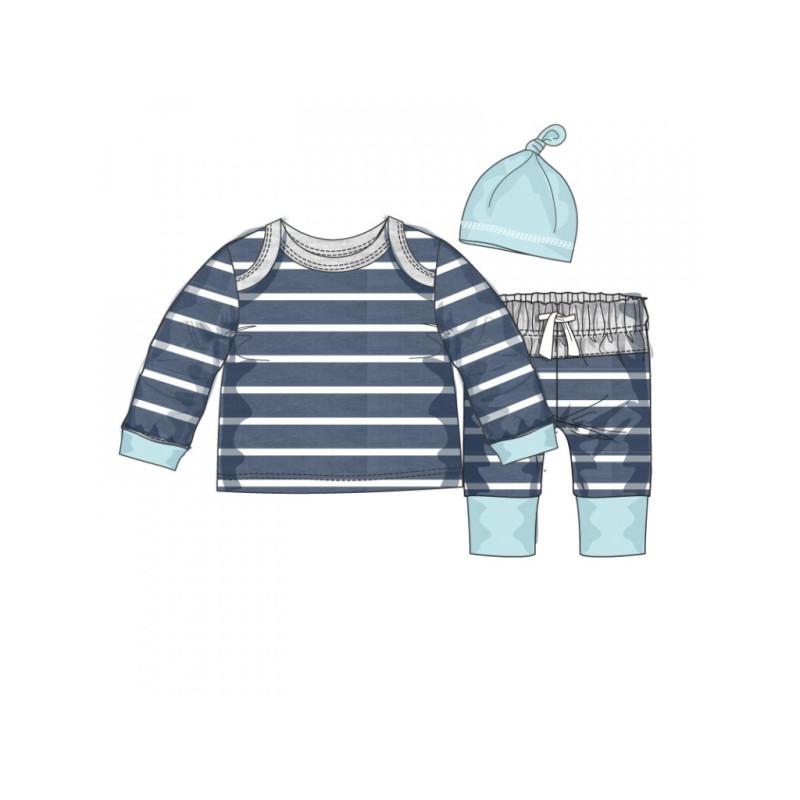 Tričko, kalhoty a čepička Baby