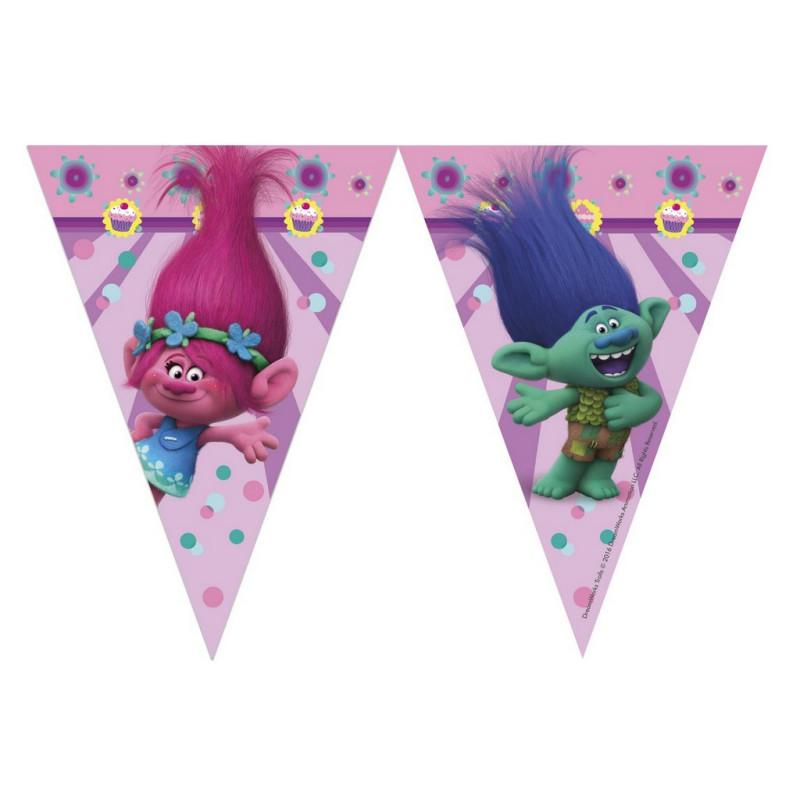 Girlanda vlajky Trollové 9 ks