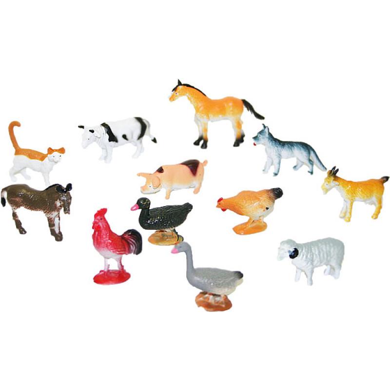 Zvířata domácí 12 ks